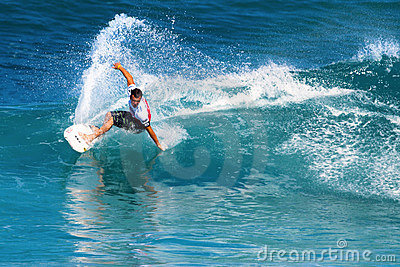 Surfer Gabe Kling Surfing in the Pipeline Masters Editorial Stock Image