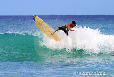 Surfer Gavin Young Surfing at Waikiki Beach Editorial Photo