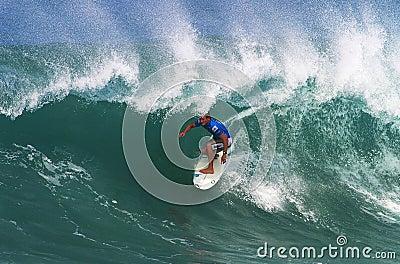 Surfer Greg Emslie Surfing at Backdoor Editorial Stock Image