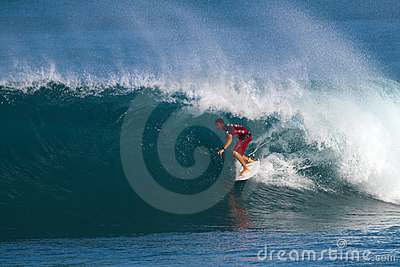 Surfer Ian Walsh Surfing in the Pipeline Masters Editorial Stock Photo