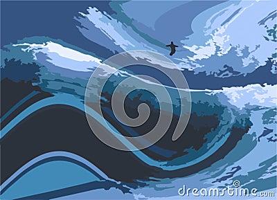 Surfer illustration