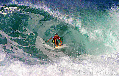 Surfer Kalani Robb Surfing at Backdoor Editorial Photography