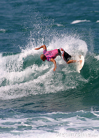 Surfer Kelly Slater in Surfing Contest Editorial Stock Image