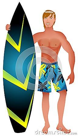 Surfer-Kerl