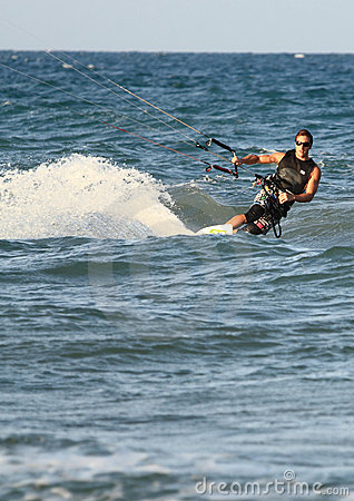 Surfer Kite surf Cullera Spain
