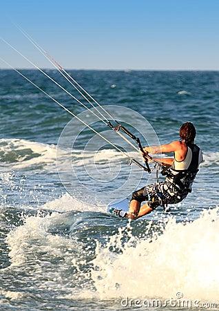 Surfer Kite surf Cullera  Valencia province Spain
