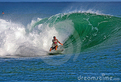 Surfer Makua Rothman Surfing in Honolulu  Hawaii Editorial Photo