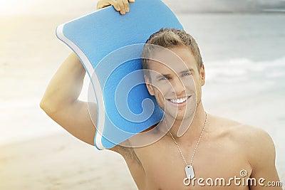 Surfer man smile