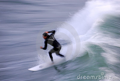 Surfer in Motion