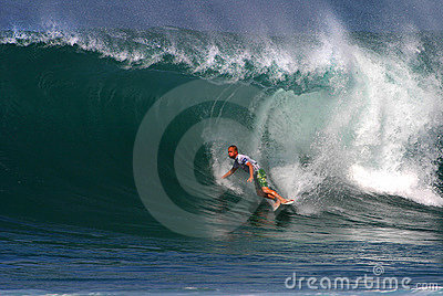 Surfer Pat O connell Surfing at Backdoor Editorial Photo