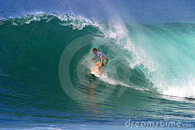 Surfer Pat O connell Surfing in Hawaii Editorial Photo