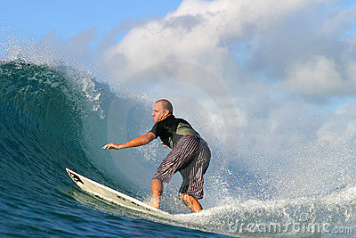 Surfer Ross Williams Surfing in Hawaii Editorial Stock Image