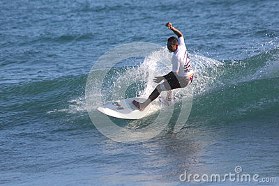 Surfer in Sardinia Editorial Image