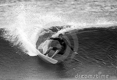 Surfer Shane Beschen in Black and White Editorial Stock Image