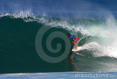 Surfer Shane Beschen Surfing at Backdoor Editorial Photo