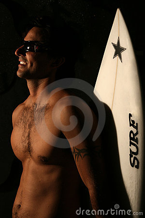 Surfer in Studio
