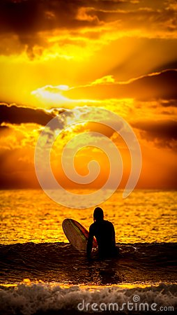 Free Surfer Sunset Wallpaper Royalty Free Stock Photos - 104679018