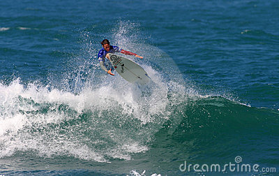 Surfer Timmy Curran in Surfing in Hawaii Editorial Photo