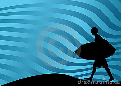 Surfer Walking