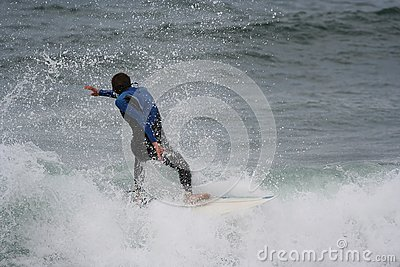 Surfer in the wave