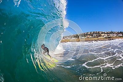 Surfer Wave Focus Balance  Editorial Photo