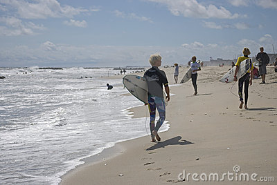 Surfers Belmar Editorial Stock Photo
