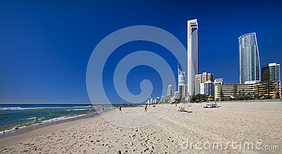 Surfers Paradise Beach on the Gold Coast