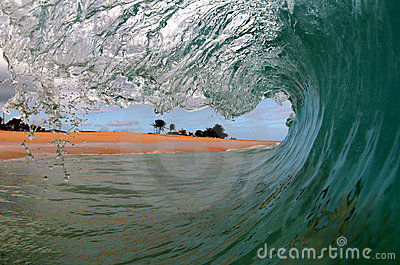 A Surfers View of a Wave