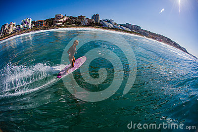 Surfin Girl Water Photo Balito Editorial Photo
