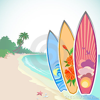 Surfing Adventure On a Tropical Island