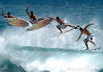Surfing air sequence Editorial Stock Photo