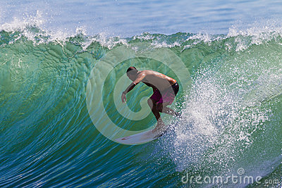 Surfing Backside Challenge Editorial Stock Photo