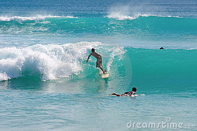 Surfing on Bali Editorial Stock Photo