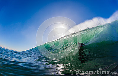 Surfing Body Boarder Wave Editorial Stock Image