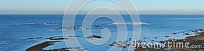 Surfing break panorama