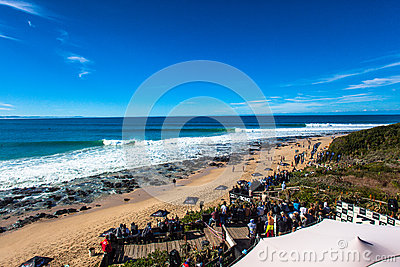 Surfing Contest Jeffreys Bay Waves Editorial Stock Image