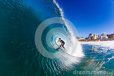 Surfing Fun Wave Water Photo Editorial Photo