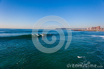 Surfing Gentle Waves Durban Editorial Stock Image