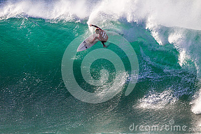 Surfing Jeffreys Bay Action Editorial Photography