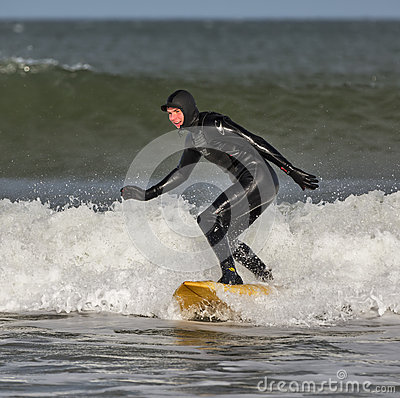 Surfing in Lossiemouth. Editorial Image
