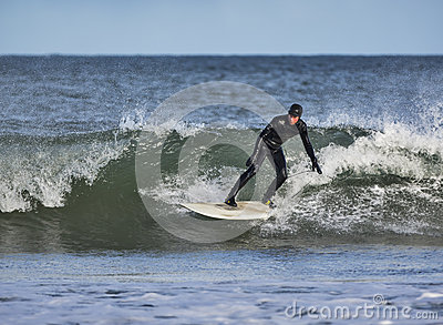 Surfing in Lossiemouth. Editorial Photo