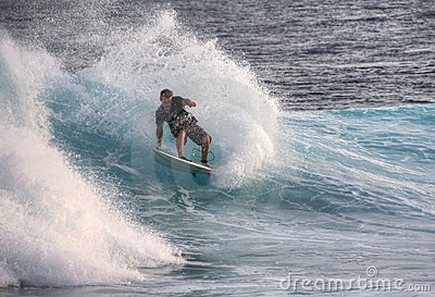 Surfing on Maldives Editorial Stock Image