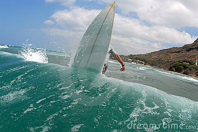 Surfing off the lip