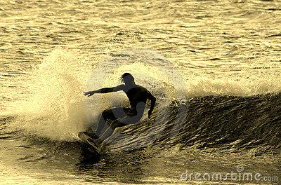 Surfing Silhouette