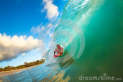 Surfing Sunset Wave