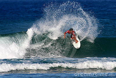 Surfing Surf Competition in Hawaii Editorial Stock Photo
