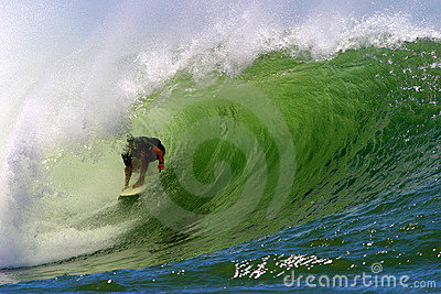 Surfing the Tube of a Wave