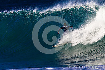Surfing Wave Speed  Editorial Photo