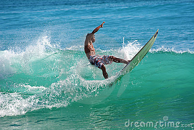 Surfing the waves Editorial Image