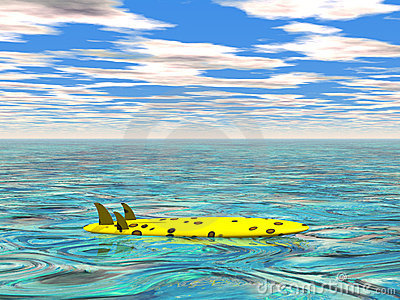 Surfplank bij het kalme overzees